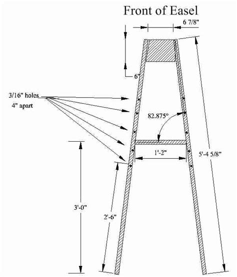 Table Top Easels Download Table Top Easel Woodworking Plans Plans Woodworking
