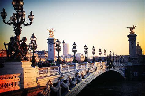 beautiful bridge light paris photography scenery favimcom