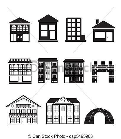 set houses drawings stock photo photo vector illustration vectors of different kinds of houses and buildings