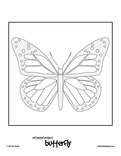 oil pastel art project monarch butterfly art for kids