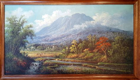 painting for java ruhiat b 1949 original painting landscape