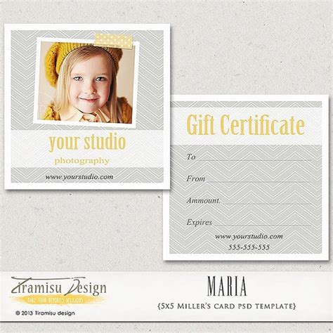 Gift Cards For Photographers - photography gift certificate photoshop 5x5 card template sharlotta instant download
