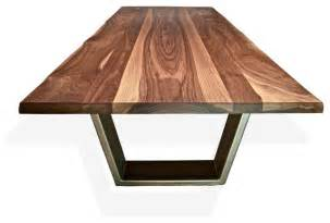 Solid Wood Modern Dining Table Solid Wood Dining Tables Contemporary Dining Tables Calgary By M 246 Bius Objects