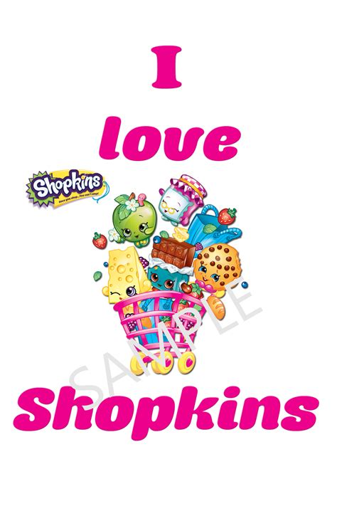 printable iron on logos i love shopkins tshirt iron on transfers