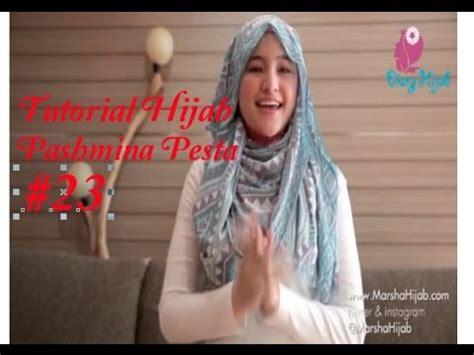 tutorial hijab pesta ala marshanda elegan