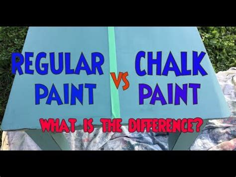 chalkboard paint vs regular paint chalk paint vs regular paint test what is the difference