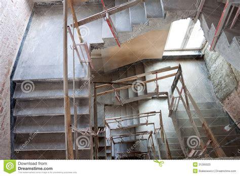 lift shaft construction stock image image  banister