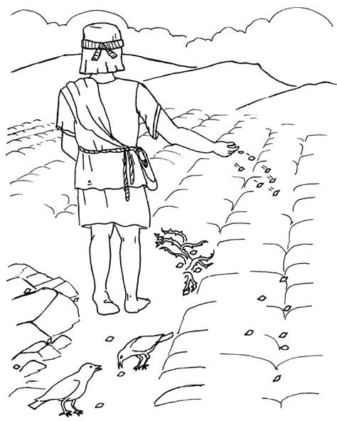 free coloring pages of parable of the seed sower