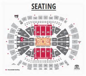 Toyota Center Seating Houston Rockets Tickets