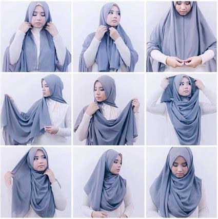 gambar tutorial hijab simple modern cara memakai hijab modern simple untuk menghemat waktu