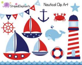 Nautical Nautical Clip Art Sail Boat Clipart Red And Navy