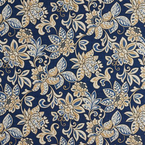 floral print upholstery fabric beige and blue dark floral print upholstery fabric