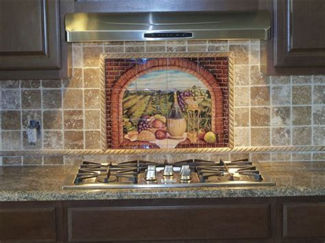 kitchen murals design decorative tile backsplash kitchen tile ideas tuscan