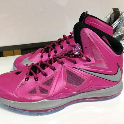 lebron shoes pink look at nike lebron x think pink yow pe nike