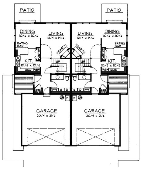 2 story duplex floor plans ainsley two story duplex plan 015d 0011 house plans and more