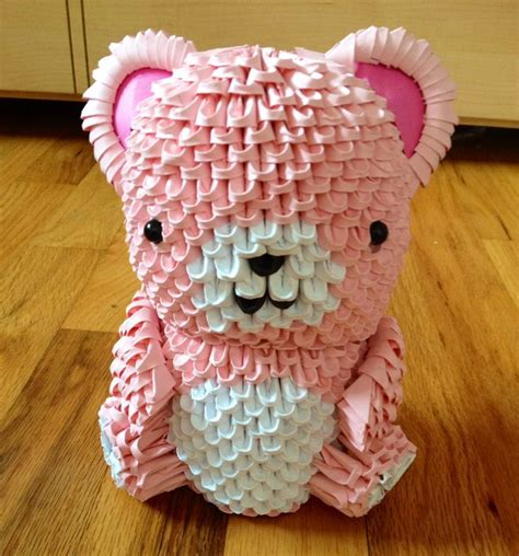 3d origami teddy bear tutorial 3d origami teddy bear 3d origami pinterest 3d