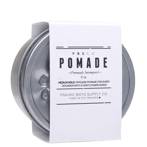 Pomade Medium Hold 4 Oz medium hold hair pomade prairie boys supply barbaware