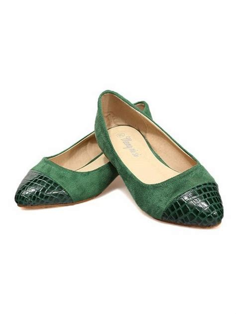 green flat shoes for korean pointed toe flat shoes in green