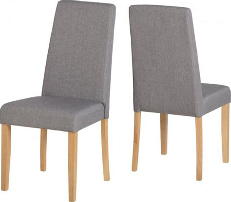 rimini grey fabric dining chair