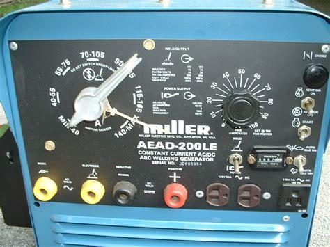 miller 200le welder generator wiring diagrams repair
