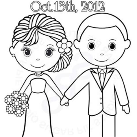couple getting married coloring page sketch coloring page