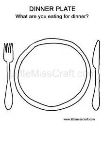 Dinner Plate Coloring Page sketch template