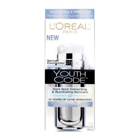 L Oreal Youth Code Spot Correcting Illuminating Serum Corrector l oreal youth code serum corrector daily treatment 1 0 fl oz walmart