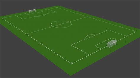 3d soccer pitch powerpoint template 3d soccer pitch turbosquid 1234286