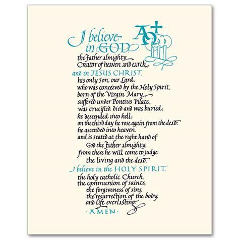 printable version nicene creed printable apostles creed prayer quotes