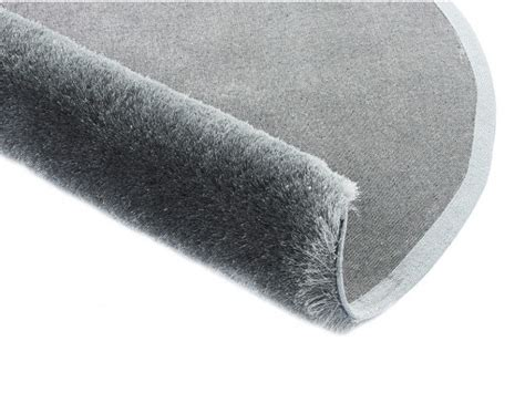 petit tapis rond 283 tapis shaggy glitter argent 233 polyester