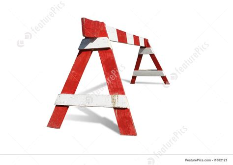 Traffic: Wooden Construction Barrier - Stock Photo ... Free Clip Art Images Construction