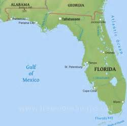 physical map of florida