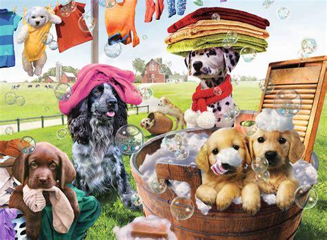 Laundry Day Jigsaw Puzzle Puzzlewarehouse Com Animal Laundry