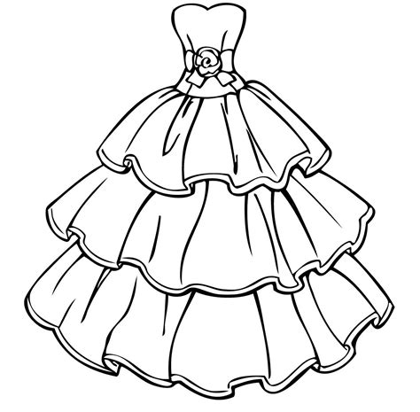 coloring pages pictures to print beautiful dress coloring page for girls womanmate com