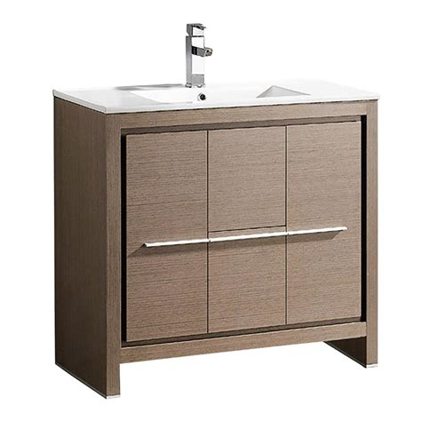 modern gray bathroom cabinets allier 36 quot gray oak modern bathroom cabinet w sink