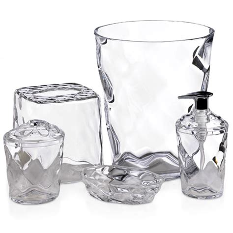 clear bathroom accessories glass blocks 5 piece clear walmart com