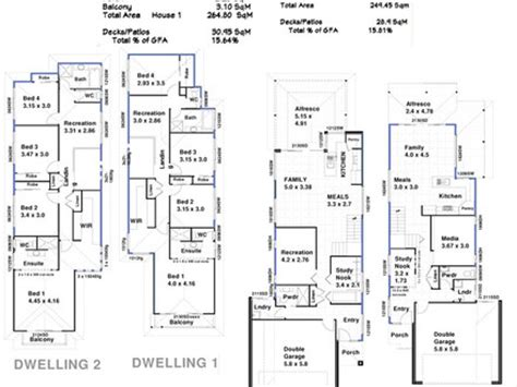 4 unit multi family house plans triplex house plans multi family house plans unit house