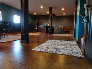 stained concrete in basement stained concrete basement traditional basement