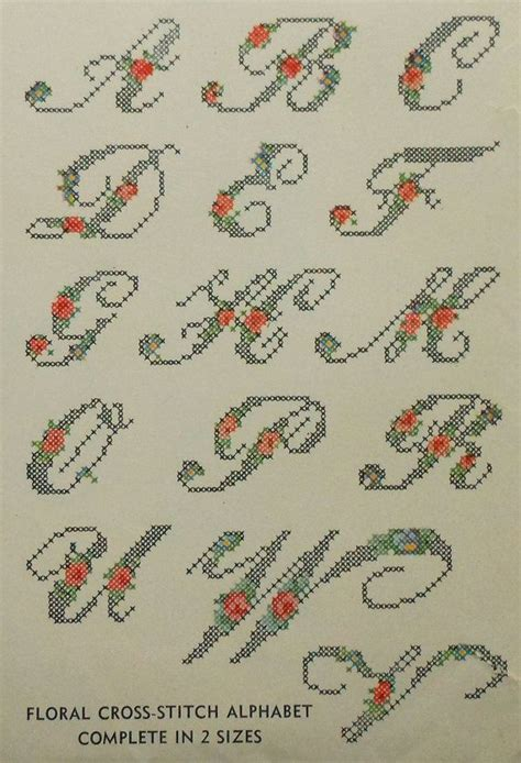 Transfer Letter Pattern Vintage 1940s Floral Alphabet Embroidery Iron Transfer Pattern Simplicity 7229