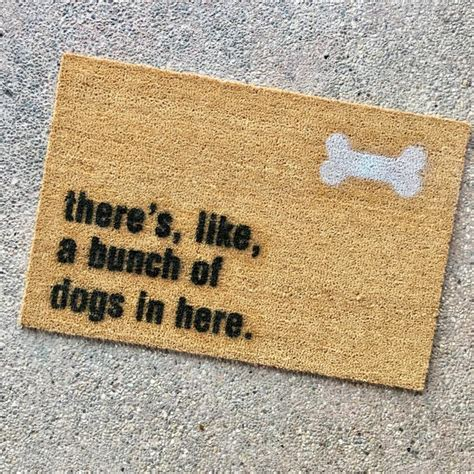 Best Doormat For Dogs the quot bunch of dogs in here quot doormat gift for animal doormat for animal