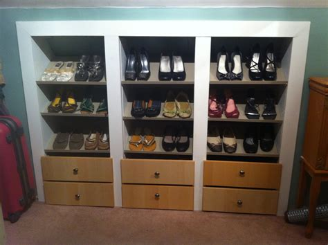 Shoe Racks For Closets Wood Ideas Advices For Closet Organization Systems Exciting Small Sized Ikea Shoe Closet Which Is Made Of Wood Element And Themed In Cool White