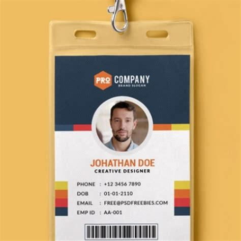 design id card template 10 free employee id card design templates mockups