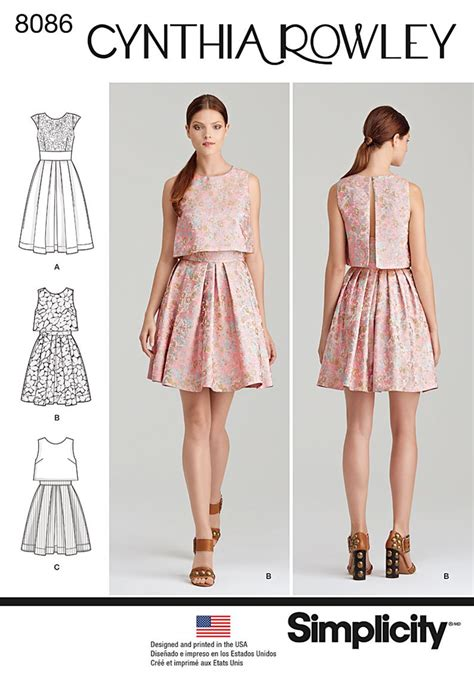 Dress Pattern Ideas | simplicity 8086 misses dress by cynthia rowley