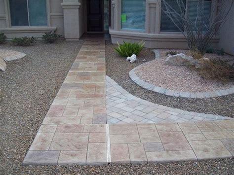 Cement Walkway Ideas Photo Gallery Concrete Walkways Tucson Az The
