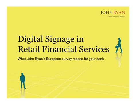 european bank for financial services digital signage in retail financial services what