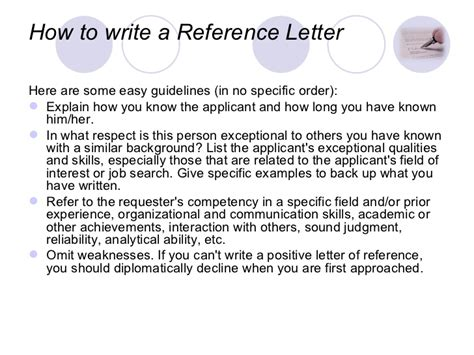 Reference Letter Keywords writing a letter of recommendation keywords to put