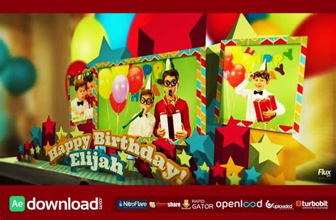 Happy Birthday Pop Up Book After Effects Template Fluxvfx Free After Effects Template Pop Up Book After Effects Template