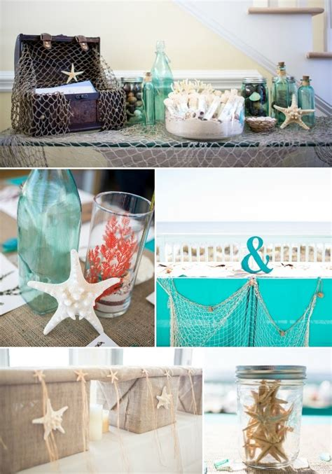 Picture of diy beach wedding in coral and turquoise