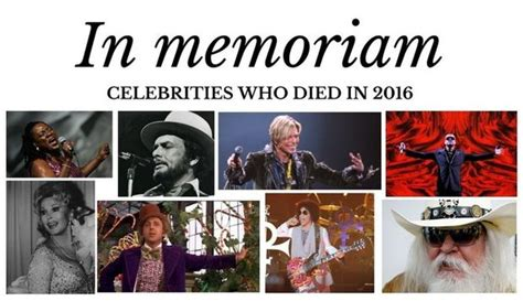 all celebrities who have died in 2016 musicians who have died in 2016 the long sad list of