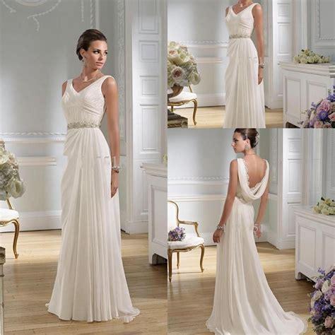 Graceful Sheath Wedding Dresses 2015 Summer A Line V Neck